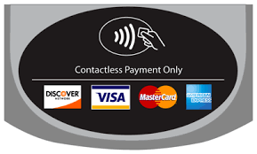 Contacless Payments accepted sign